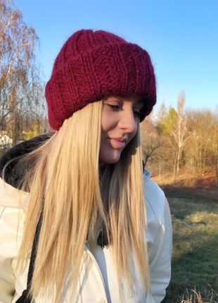 Комплект в стиле «такори» шапка и шарф новые