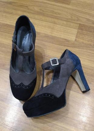 Tamaris замшевые туфли 37 размер
