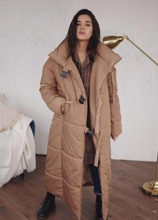 Шикарный пуховик одеяло куртка зимняя новый