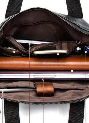 Мужская деловая кожаная сумка !2 фото
