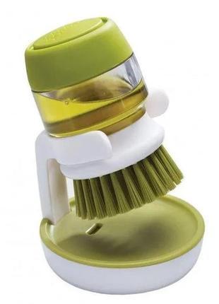 Щётка для мытья посуды с дозатором для моющего средства