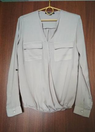 Рубашка блузка блуза бежевого нюдового цвета