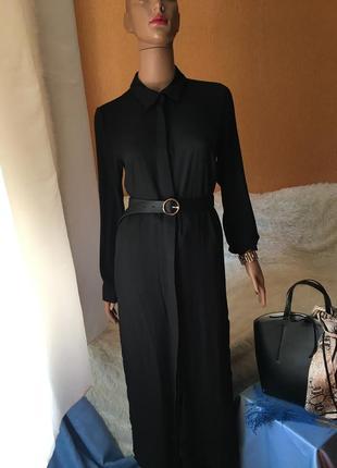 Стильное платье рубашка с разрезами по бокам♥️