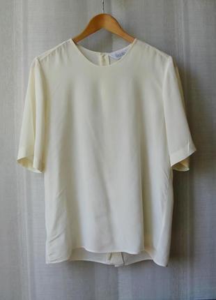 Итальянская шелковая блузка-туника, рукав 1/2, спинка на пуговках, р. м (44)