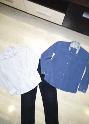 Рубашки две шт. на рост 146-152
