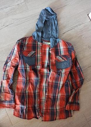 Легкая рубашка с капюшоном glo-story