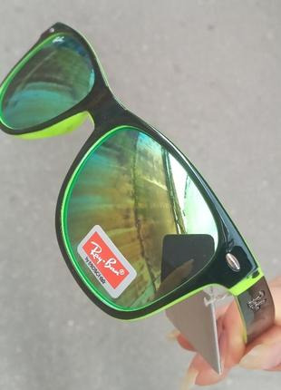 Стильные очки вайфареры зелёные унисекс италия распродажа остатков витрины