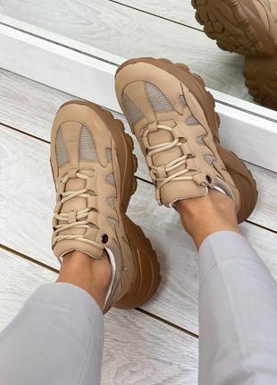 Крутые кроссовки кожзам