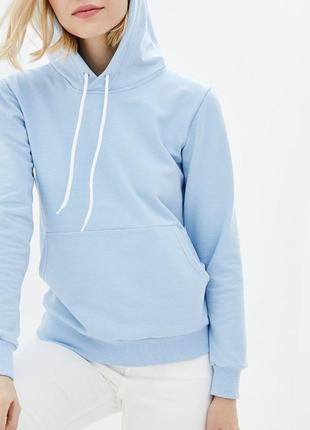 Нежно-голубое женское худи