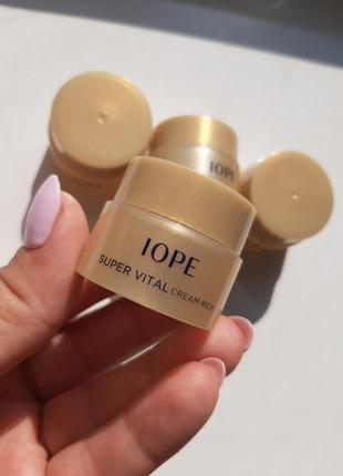 Антивозрастной крем для лица iope super vital cream rich