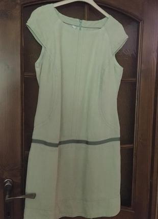 Льняное платье 40