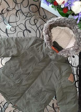 Осенняя демисезонная куртка парка f&f на мальчика