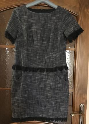 Оригинальное хлопковое платье на подкладке 38