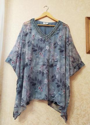 Шикарная двухслойная блуза