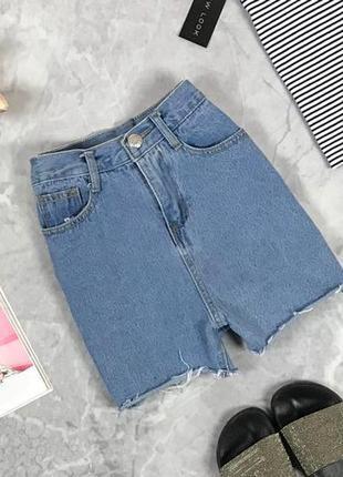 Джинсовые шорты с завышенной талией  pn1927044