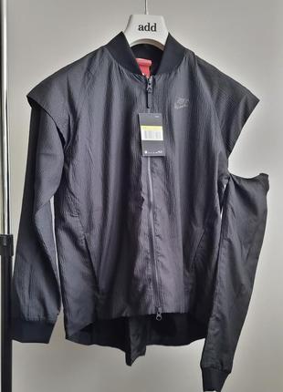 Новая ветровка трансформер nike (лето) эффект плиссе куртка жилет найк оригинал