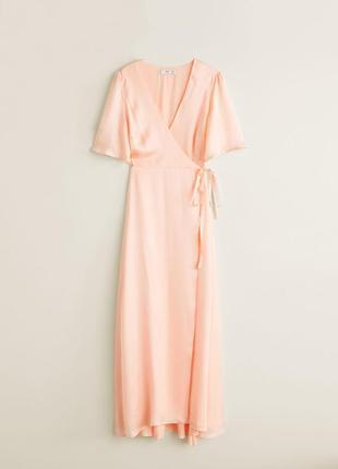 Mango длинное платье с атласным блеском , s, m