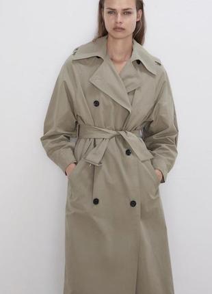 Тренч объёмного кроя с лацканами, плащ, куртка, пальто