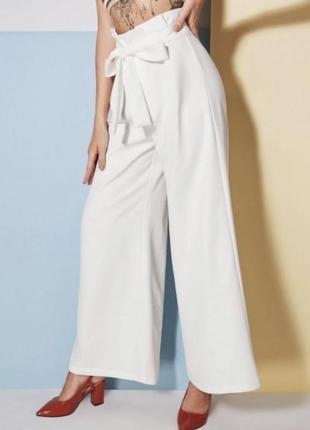 Белые брюки кюлоты3 фото
