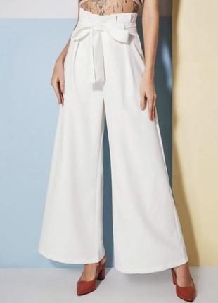 Белые брюки кюлоты1 фото