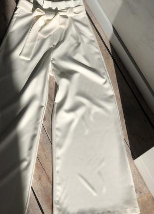 Белые брюки кюлоты6 фото