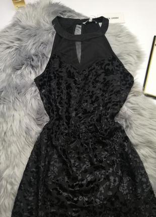 Новое вечернее платье бархатное короткое сексуальное с биркой нарядное