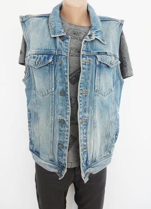 🔥🔥🔥 безрукавка джинсовая, мужская, pull & bear, l