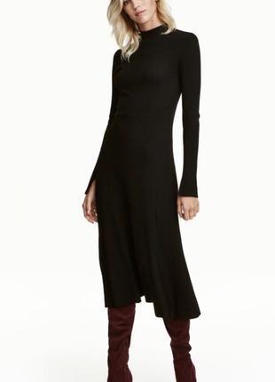 Платье h&m l миди трикотажное