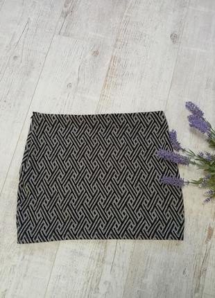 Женская юбка sinsay м по фигуре геометрический принт