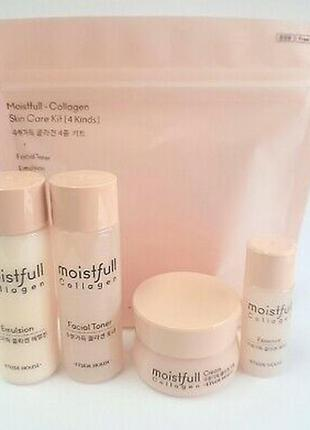 Etude house moistfull collagen skin care kit набор мини средств с коллагеном
