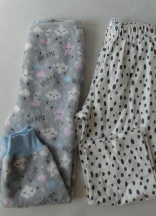 Набор 2 ед. пижамные штаны primark-matalan англия 3-4 года 104 см флис-байка