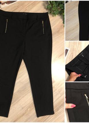 Стильные брэндовые стрэйчевые брюки штаны капри