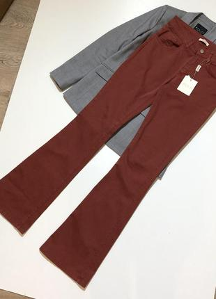 Новые клёшные джинсы клёш fracomina италия made in italy кльошні джинси італія