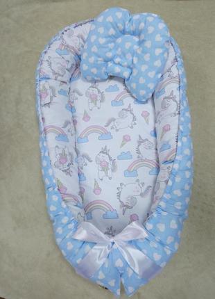 Кокон гніздечко для новонародженних бебінест позиціонер
