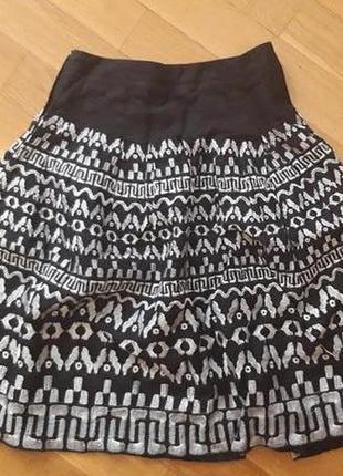 Пишна лляна спідниця з вишивкою / пышная льняная юбка с вышывкой