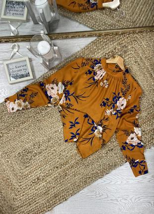 Шикарная блуза в флористический принт