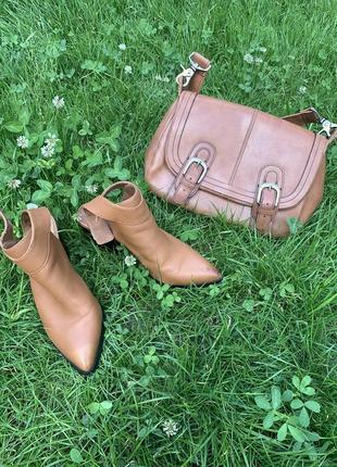 Комплект туфли с открытой пяткой и сумочка