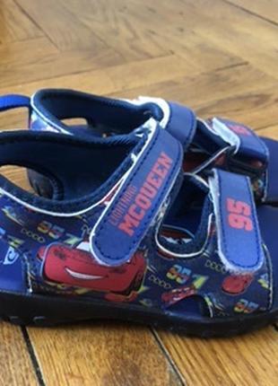Босоножки сандали pixar mcqueen молния маквин 28р 18см