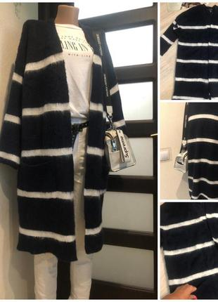 Тёплый стильный длинный кардиган блейзер кофта накидка