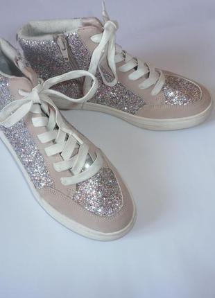 Обалденные  кеды кроссовки в блестках h&m