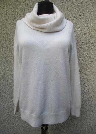 Молочный свитер из кашемира и шерсти