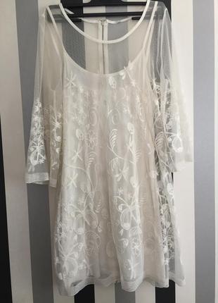 Платье сетка туника divided размер s