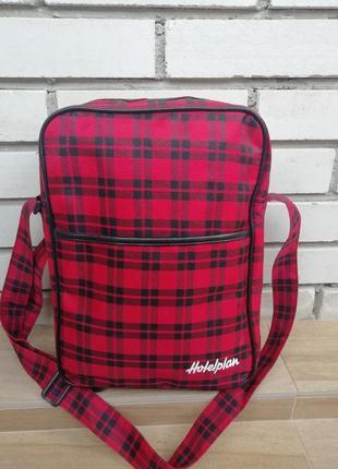 Фірмова текстильна сумка кросбоді hotelplan!!!