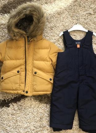 Набор зимний (курточка zara, полукомбинезон childrensplace)