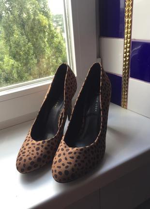 Туфли леопардовые на широкую ногу
