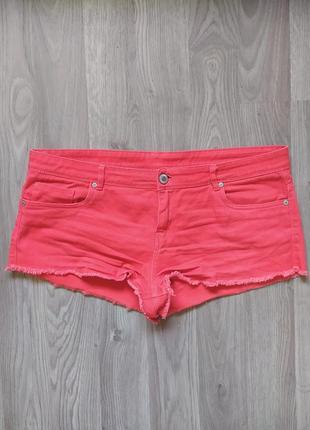 Руді джинсові міні шорти / оранжевые джинсовые мини шорты