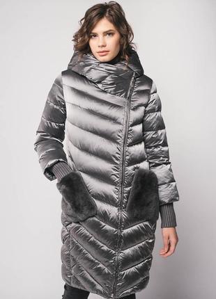 Пальто пуховик snow beauty l размер