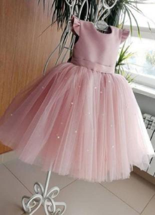 Миленькое нарядное платье для девочки (размер 104-140)