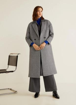 Классическое пальто из шерсти mango