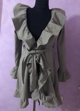 Шикарный плащ пальто из денима люксовый бренд